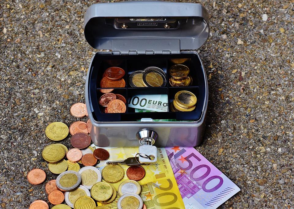 eura v pokladničce