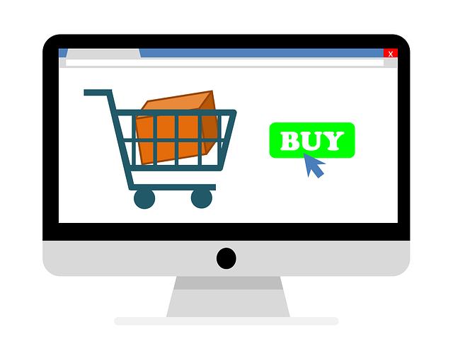 online nakupování a vozík