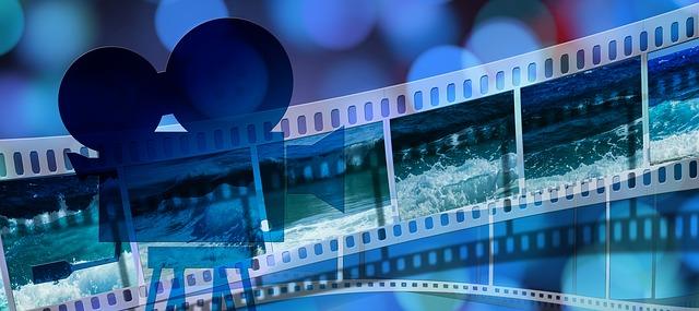 moře na filmovém páse