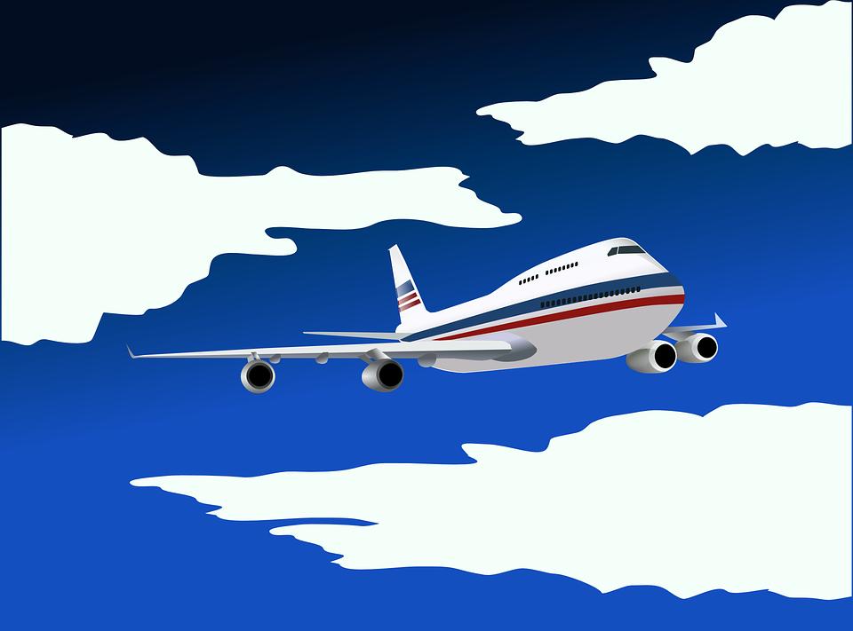 kreslené letadlo