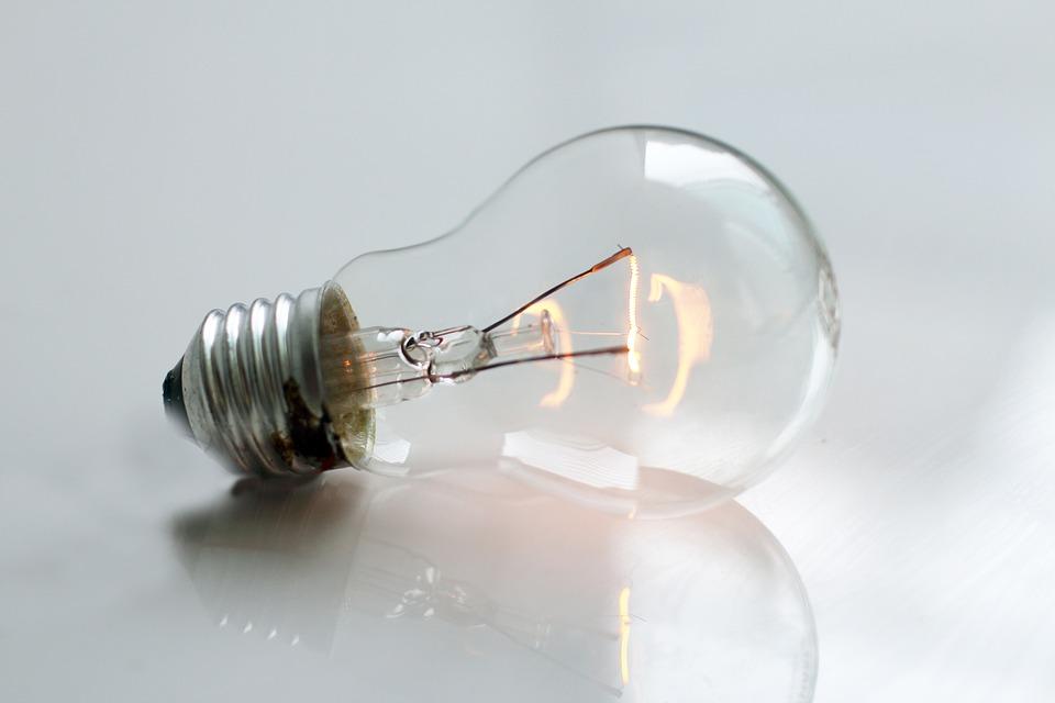 ležící žárovka
